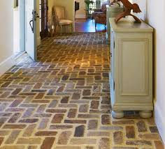 Brick Floor Tile, Classic and Elegant Style in Modern Home  Entryway  flooring with brick floor tile