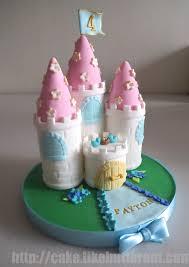 5 Custom Princess Cakes Photo Princess Castle Cake Topper Little