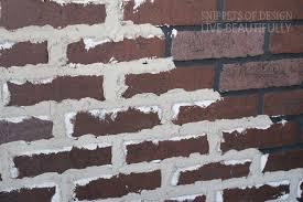 diy vintage faux brick wall snippets