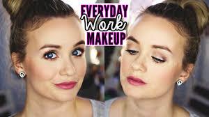 everyday work makeup routine