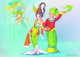 myanmar thingyan cartoon photo onvacations wallpaper image