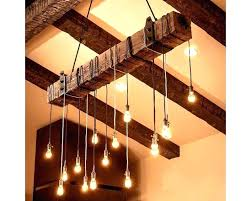 industrial chandelier pendant farmhouse dining room diy rustic wooden beam home improvement glamorous i