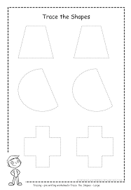 Tracing Shapes Worksheets Free Printable For Preschoolers – hermani.info