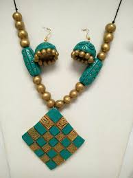 Funky Necklace Designs Pin By Dax Bhuvi On Terracotta Terracotta Jewellery