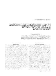 Journal Bearing Design Hydrodynamic Lubrication And Its Implication For Journal