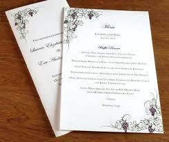 Sample Wedding Menu Cards Lojazaac Com