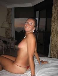 Wife goes topless beach