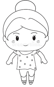 Small Picture Little Girl Coloring Page Stock Illustration Image 52087019