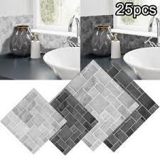 Aufkleber aus folie können mit hilfe von 2 komponenten polyurethan harz bzw. 25 X Selbstklebende Mosaik 3d Fliesen Matten Zur Wandgestaltung Deko Veredelung Ebay