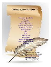 Wedding Program Scroll Wedding Program Layouts Magdalene Project Org