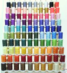 Brother Thread Conversion Chart Set Of 100 Colors Of Polyester Thread For Brother Embroidery Machines