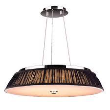 worldwide lighting alice collection 12 light polished chrome with black shade led pendant