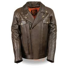 details about mens retro brown leather utility pocket motorcycle jacket