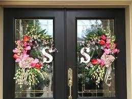 Double Door Decorating Ideas For Modern Mats Stunning Both Wreaths
