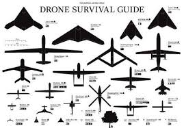 Drones Identification Chart Poster 24inx36in Poster Drone