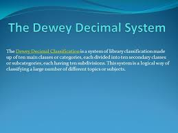 Dewey Decimal System Chart 200 The Dewey Decimal System Ppt Video Online Download