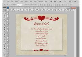 Photoshop Tutorial How To Make A Wedding Invitation