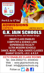 Admission Form For School Mesmerizing Admission GKJAIN SCHOOLS