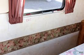 how to remove the outdated wallpaper border in your rv camper tips to easily