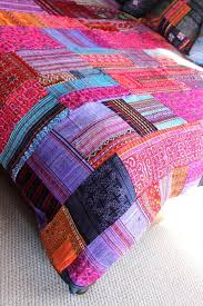 patchwork duvet cover hmong batik embroidery and applique cotton bohemian style blanket free worldwide