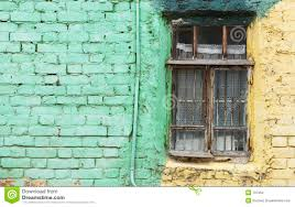 Old Window Old Window And Green Wall With Space For Text Stock Images Image
