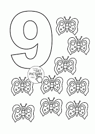 Number 9 Coloring Pages For Kids