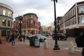 harvard square the area around the convergence of massachusetts avenue and brattle mount auburn and john f kennedy streets is a commercial center for