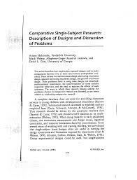 Adapted Alternating Treatments Design Pdf Comparative Single Subject Research