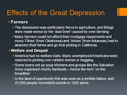effects of the great depression essay