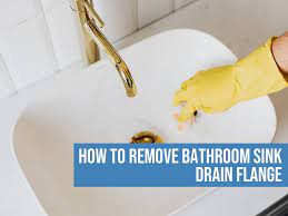 how to remove bathroom sink drain