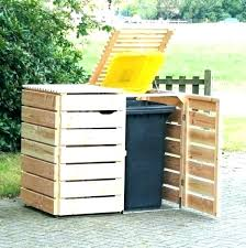 building a garbage can enclosure trash enclosure design garbage wooden can plans medium size of outdoor