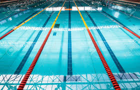 olympic swimming pool background. Olympic Swimming Pool Lanes Background Starting Block With Color C