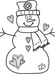 Small Picture Free Christmas Coloring Pages Snowman Printable Christmas