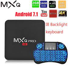 MXQ pro 4K Android 7.1 Smart Box 4K HD 3D 2.4G WiFi S905W Quad Core Media  Player smart tv android tv box 2GB 16GB Android TV Box|Set-top Boxes