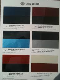 2012 Harley Davidson Color Chart Are 2012 Colors Known Yet Harley Davidson Forums