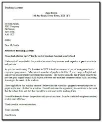 Sample Cover Letter For Teaching Assistant With Experience Cover