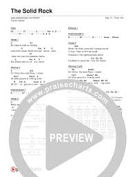 The Solid Rock Chord Chart Editable Travis Cottrell