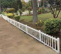 white frc garden picket fence rs 400