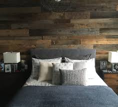 Kristy's Master Bedroom Reclaimed Wood Accent Wall