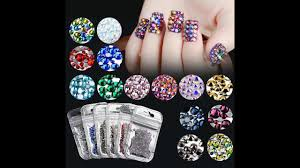 Colorful Crystal Nail art |Silver Necklaces Pendant Crystal|Joker ...