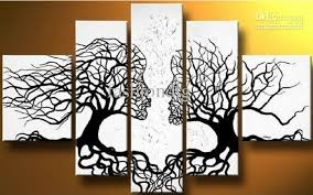 >abstract black white oil painting couple love tree home office  abstract black white oil painting couple love tree home office decoration wall art decor handmade abstract oil painting portrait oil painting decorative oil