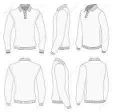 shirt design templates all views mens white long sleeve polo shirt design templates