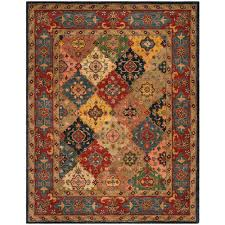 safavieh heritage red multi 8 ft x 10 ft area rug