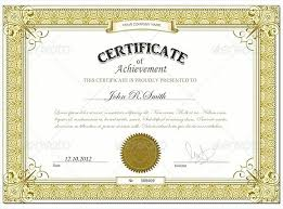 Certificate Of Achievement Templates Free Custom Course Certificate Template Word Of Completion Copy Free Sales Award