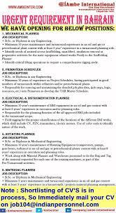 Mechanical Planner, Primavera Scheduler, Electrical ...