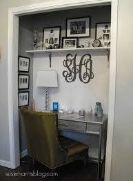 turn closet into office. quite possibly the coolest way to give an odd or unused closet a facelift turn into office o
