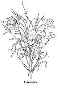 Flowers And Nature Redwork Flowers Carnation