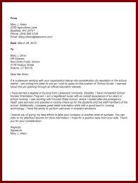 Sample Nursing School Application Cover Letter