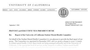 UC Mental Letter