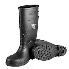Tingley Rubber Steel Toe Boots Black Pvc 15 In Mens Size 6 Womens Size 8